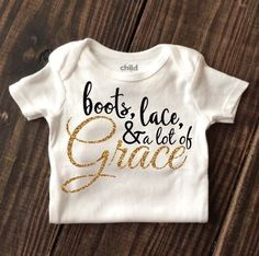 Onesie 'boots and Lace Grace'  | eBay