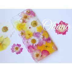 【iphone6用】ラプンツェルカラーの押し花iphoneケース | Ohana*shop