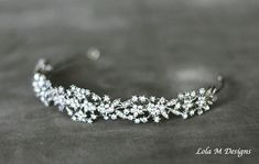 Amber Bridal headband wedding accessory tiara by lolaandmadison Wedding Headband, Wedding Tiaras, Wedding Veils, Wedding Dresses, Wedding Hair And Makeup, Hair Wedding, Rose Wedding, Spring Wedding, Wedding Blog