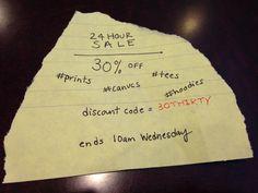 30% OFF #24hoursale #prints #canvas #tees #hoodies #artistspot #art #clothing #sale