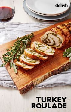 Putenroulade - Garlic and Herb Turkey Roulade - Pfeffer Fall Dinner Recipes, Fall Recipes, Holiday Recipes, Turkey Dinner Ideas, Thanksgiving Recipes, Fall Meals, Thanksgiving 2020, Holiday Meals, Holiday Dinner