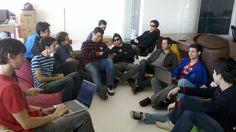 Reunião da equipe de programação