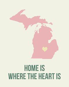 Fine Art Print of my home state - Michigan.