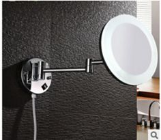 Bathroom Chrome Wall Mounted 8 inch Brass one face 3X Round Bath Led Mirror Folding Makeup Mirror Cosmetic Mirror Lady Gift - http://furniturefromchina.net/?product=bathroom-chrome-wall-mounted-8-inch-brass-one-face-3x-round-bath-led-mirror-folding-makeup-mirror-cosmetic-mirror-lady-gift