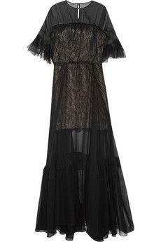 Antonio Berardi Silk-chiffon and lace gown | NET-A-PORTER