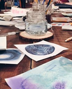 Prepping a fun art project for a holiday painting event this week. Did you know you can book us to come and host a creative party for you? Excited to get our modern craft on with @mercurynoda and their #caresteam - see you soon! #cltarts #artparty