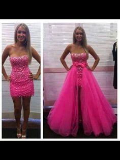 Pink Sweet sixteen dress. I would like it better if there wasn't a gap I the front and I was a full tulle skirt