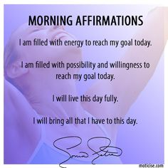 try these in the morning and see how they can change your life! -Sonia :-)