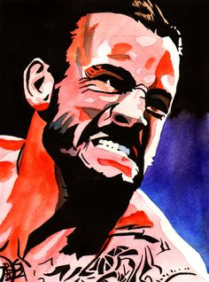 "CM Punk l Ink and watercolor on 9"" x 12"" watercolor paper l http://www.robschamberger.com/commissions"