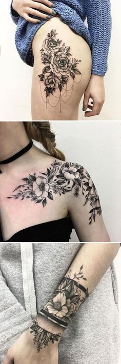 Spring is upon us, and summer isn't far behind it, meaning floral printed everything is officially necessary, and that includes tattoos as well. #armtattoos
