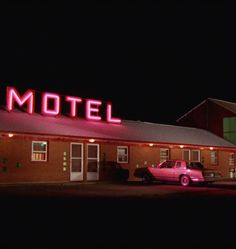Highway Interstate Song of Angst American Gods, Retro Aesthetic, Night Aesthetic, Summer Aesthetic, Interior Exterior, Neon Lighting, Film Photography, In This Moment, City