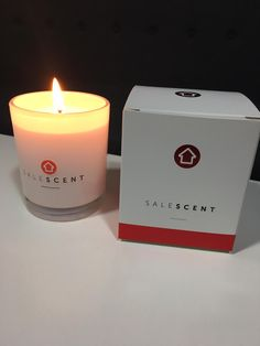 Sale Scent candle by realestate.com.au, designed to increase the value of a home.
