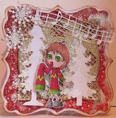 Bettands hobbykrok: Maggie's Christmas sweater for Bloobel stamps