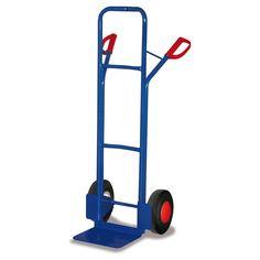 GTARDO.DE:  Stahlrohrkarre, Tragkraft 250 kg, Maße 572 x 586 x 1300 mm, Schaufel 320 x 250 mm, Rad 250 x 60 mm, Höhe 1300 mm 91,00 €