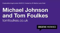 2012/09 Tom Foulkes & Michael Johnson on Vimeo