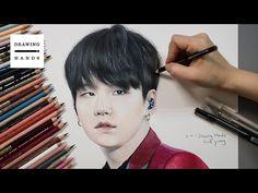 방탄소년단 - 슈가(민윤기) 그림 그리기 (Speed Drawing BTS Suga)[Drawing Hands]