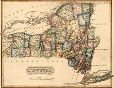 New York State 1817 by Fielding Lucas Historic Map. A wide and growing selection of inexpensive reprints of rare Historic Maps are available from Hearthstone Legacy Publications at: http://www.hearthstonelegacy.com/Historic-Map-Reprints.htm