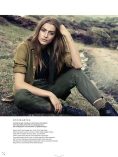 kamouflerad: lone praesto by honer akrawi for elle sweden september 2014