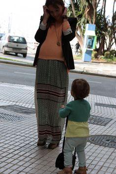 Look embarazo...Un recurso muy fácil: de vestido a falda larga