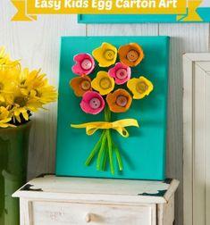 Spring egg carton flowers - easy kids art // Tavaszi virágos falikép tojástartókból // Mindy - craft tutorial collection // #crafts #DIY #craftTutorial #tutorial #PaperCrafts #KreatívÖtletekPapírból