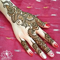 Browse the latest Mehndi Designs Ideas and images for brides online on HappyShappy! We have huge collection of Mehandi Designs for hands and legs, find and save your favorite Mehendi Design images. Henna Hand Designs, Eid Mehndi Designs, Mehndi Designs Finger, Mehndi Designs For Beginners, Mehndi Patterns, Latest Mehndi Designs, Simple Mehndi Designs, Mehndi Designs For Hands, Henna Tattoo Designs