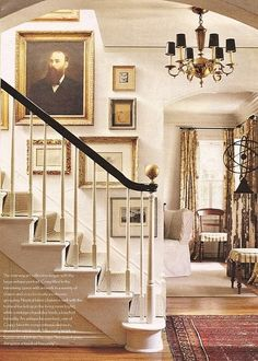 STAIRCASE stairs for entry includes an arch to living room. STAIRCASE stairs for entry includes an arch to living room. Love the gold finial- Balustrades, Banisters, Black Banister, Railings, Stair Banister, Stair Rods, Everything But The House, Interior And Exterior, Interior Design