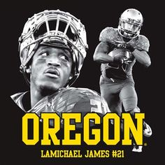 New Item - LaMichael James Oregon Ducks #21 Highlight T-Shirt - Black