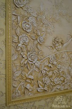 Need to make this, cheat and use silk leaves and flowers then plastered and painted