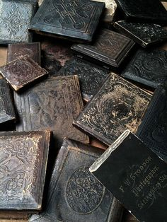 Antique photos inside these lovely cases ~ The Other Side | Flickr - Photo Sharing!