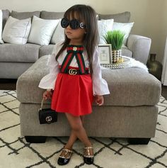 Gucci Baby Clothes Ideas of Gucci Baby Cloth Boys Fall Fashion, Baby Girl Fashion, Baby Outfits, Kids Outfits, Gucci Baby Clothes, Baby Swag, Cute Baby Girl, Baby Baby, Little Fashionista