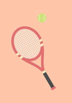 #19 Tennis Art Print