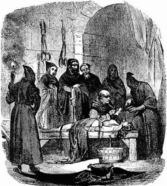 """Torture by a water. Illustration to the M.V.de Fereal's """"History of Inquisition"""". XIX."""