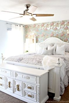 Gorgeous Shabby Chic Master Bedroom Makeover