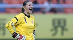 Norwegian Goalkeeper Bente Nordby.