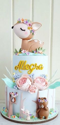 Extraordinary Baby Shower Cakes - Woodland Themed Cake Woodland Themed Cake Woodland Themed Cake Welcome to our website, We hope you - Baby Cakes, Baby Shower Cakes, Girl Cakes, Cupcake Cakes, Fondant Cakes, Girl Shower Cake, Fondant Cake Designs, Shower Baby, Cake Cookies