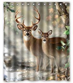Creative Bath Deer Shower Curtain (60u2033 X 72u2033 ) | Friendly Faces