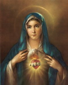 "13"" X 17"", $10.59.  Immaculate Heart of Mary Poster, 13"" x 17"" - MADE IN ITAL... https://www.amazon.com/dp/B003CIQ18M/ref=cm_sw_r_pi_dp_x_ydvNybS56K009"