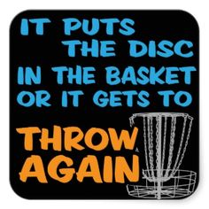 Disc Golf Sticker