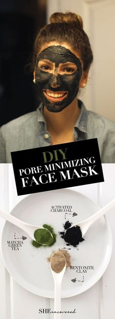 DIY Pore Minimizing Face Mask made from just 3 all-natural ingredients! We love DIY skin care and beauty routines! #SkinCareTips