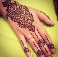 Outstanding Easy Mehndi/Henna Designs Images, Girls Hand DPS