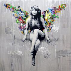 Martin Whatson Graffiti Art, Graffiti Drawing, Murals Street Art, Street Art Graffiti, Vintage Diy, Spray Paint On Canvas, Street Gallery, Chalk Drawings, Human Art