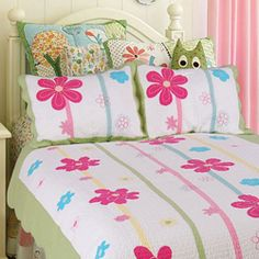 Spring Fling Flower Twin-size 2-piece Quilt Set