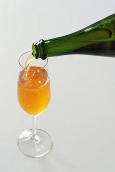 Cognac Sparkler (cognac, sparkling apple cider, and bitters)