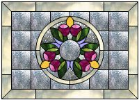 Breath Of Spring Stained Glass Pattern from Glass Pattern Source