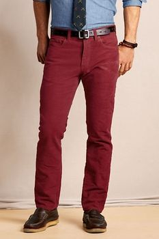Men's 5-pocket 628 Straight Fit Moleskin Pants - Currant, 32x32