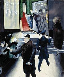 Greta Hällfors-Sipilä, akvarelli 1930.  Tulo Fenniaan.
