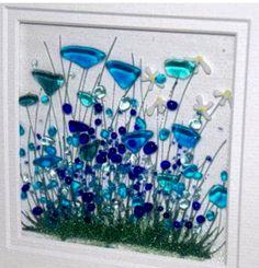 Broken Glass Art, Shattered Glass, Sea Glass Art, Glass Wall Art, Stained Glass Art, Glass Fusion Ideas, Glass Fusing Projects, Crushed Glass, Glass Artwork