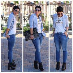 Forever 21 Heather Grey Blazer   Jeans