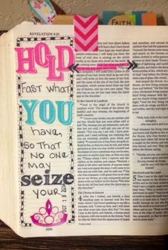 A Day in the life of a Country Mouse: Journaling Bible: Hold Fast....