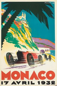 Vintage Travel Posters That Will Make You Want to Visit the South of France : Condé Nast Traveler (Monaco 1932)